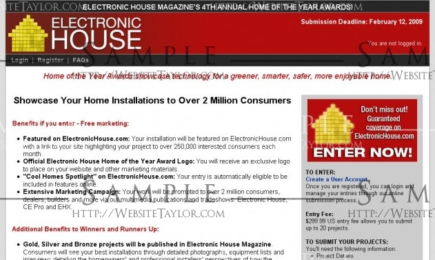Electronic House Home of the Year Awards: Main Page (February 2009)