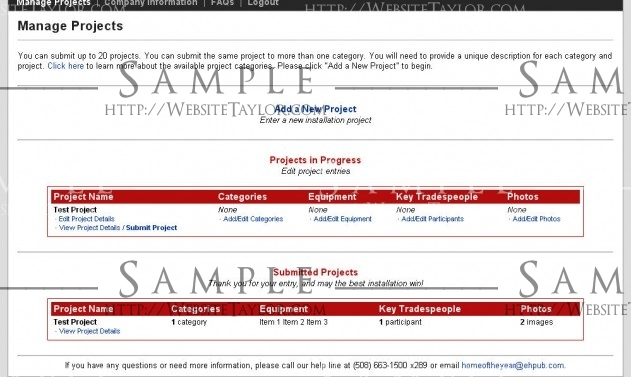 Electronic House Home of the Year Awards: Project Management Page (February 2009)