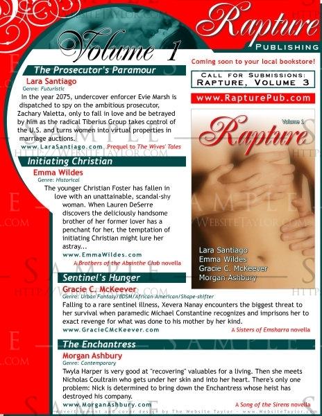 Rapture Publishing: Print Advertisement (August 2007)