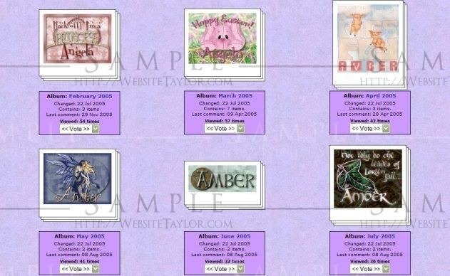 LunaClick.net Albums: Gallery Page (Gallery, October 2004)