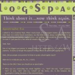 BlogSpace: Main Page (Blog, August 2007)