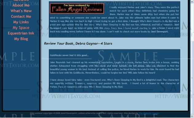 Jami Davenport: Reviews Page (May 2008)