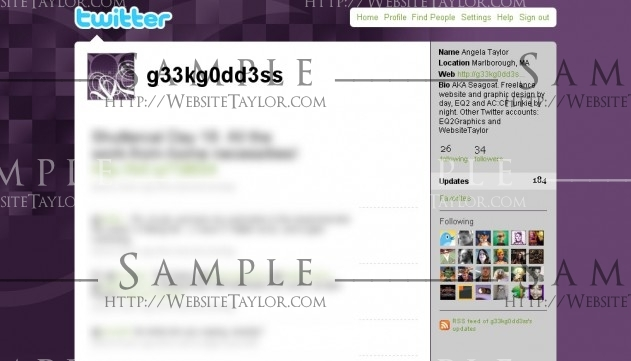 Twitter Theme: g33kg0dd3ss (May 2009)