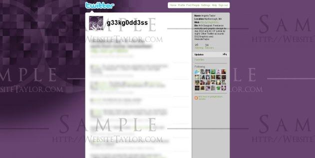 Twitter Theme: g33kg0dd3ss [widescreen] (May 2009)