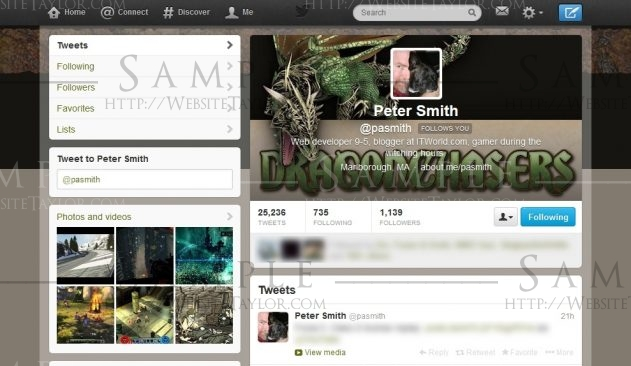 Twitter Theme: pasmith (March 2013)