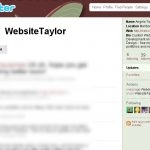 WebsiteTaylor (Twitter, May 2009)