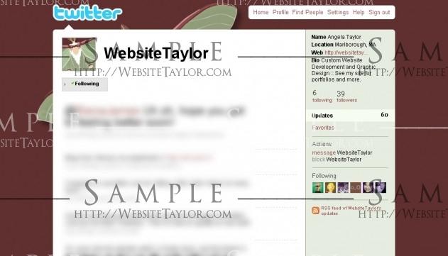 Twitter Theme: WebsiteTaylor (May 2009)