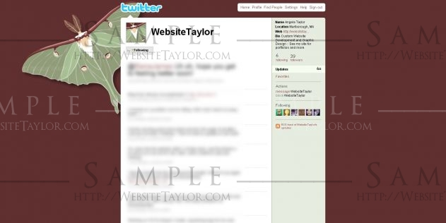 Twitter Theme: WebsiteTaylor [widescreen] (May 2009)
