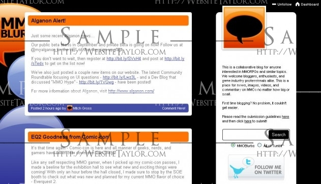 MMOBlurbs: Main Page (Tumblr, July 2009)