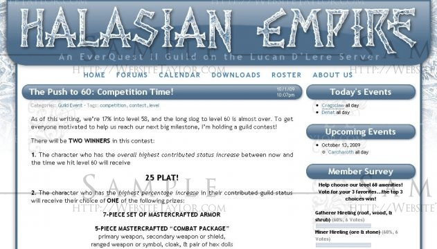 Halasian Empire: Main Page (September 2009)