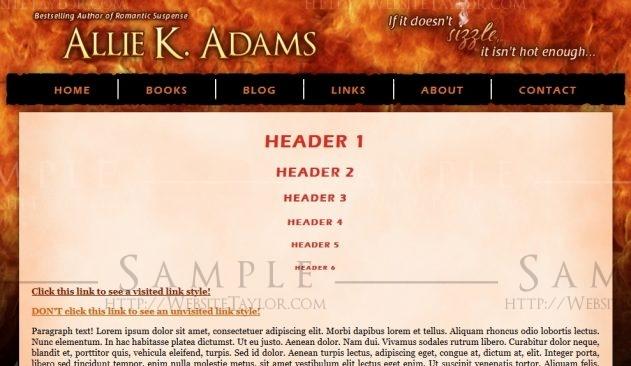 Allie K. Adams: Main Page (September 2011)