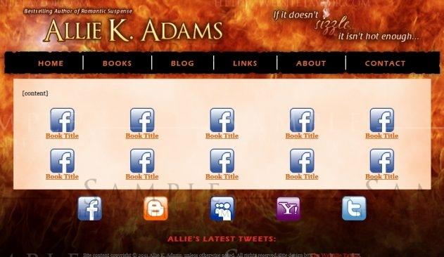 Allie K. Adams: Books Page (September 2011)