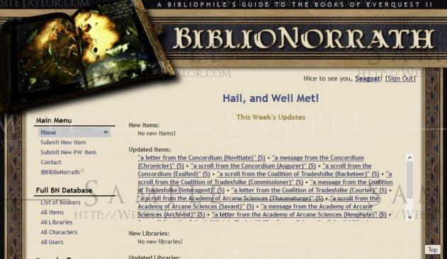 BiblioNorrath: Main Page (February 2013)