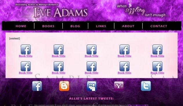 "Allie K. Adams: ""Eve Adams"" Books Page (September 2011)"