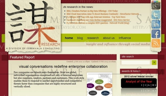 ZK Research: Main Page (October 2011)